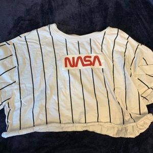 3/$25 Forever 21 NASA striped crop top